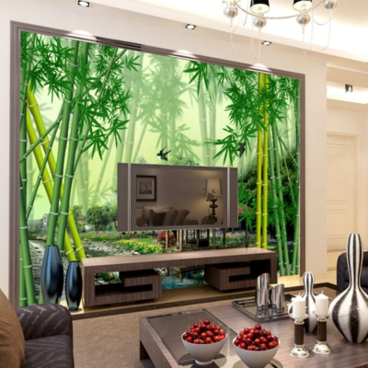 The 25 best 3d wallpaper ideas on pinterest grey for Bamboo forest wall mural