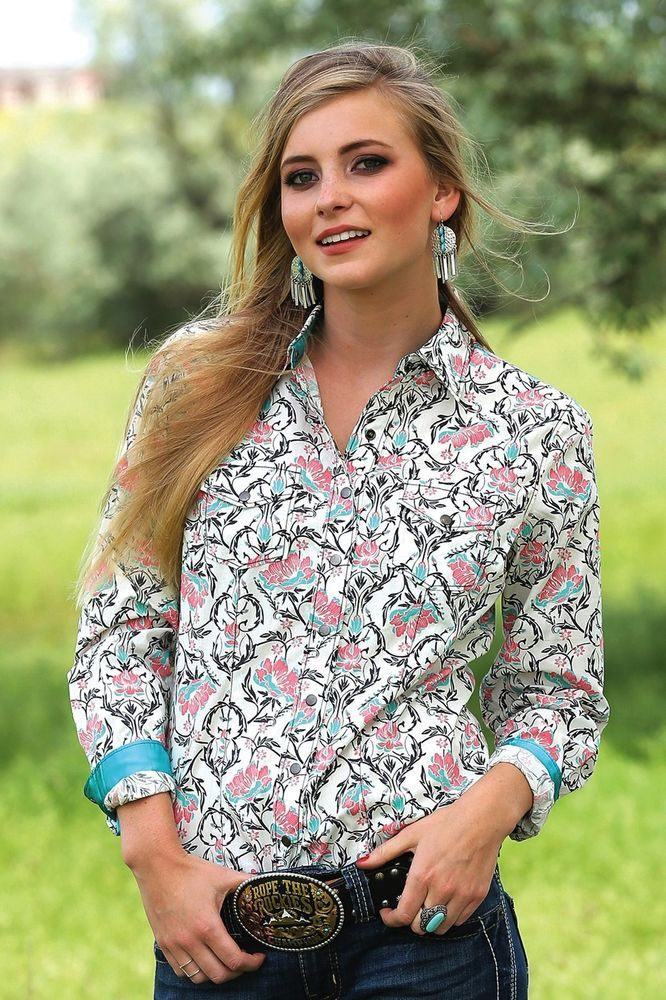 $24.99! 2 left medium only! CRUEL GIRL CTW9384002  RODEO Western Barrel ARENA FIT SHIRT COWGIRL NWT Medium…