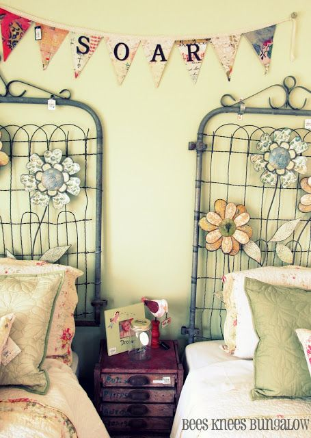 17 best images about displaying ideas on pinterest for Garden themed bedroom ideas