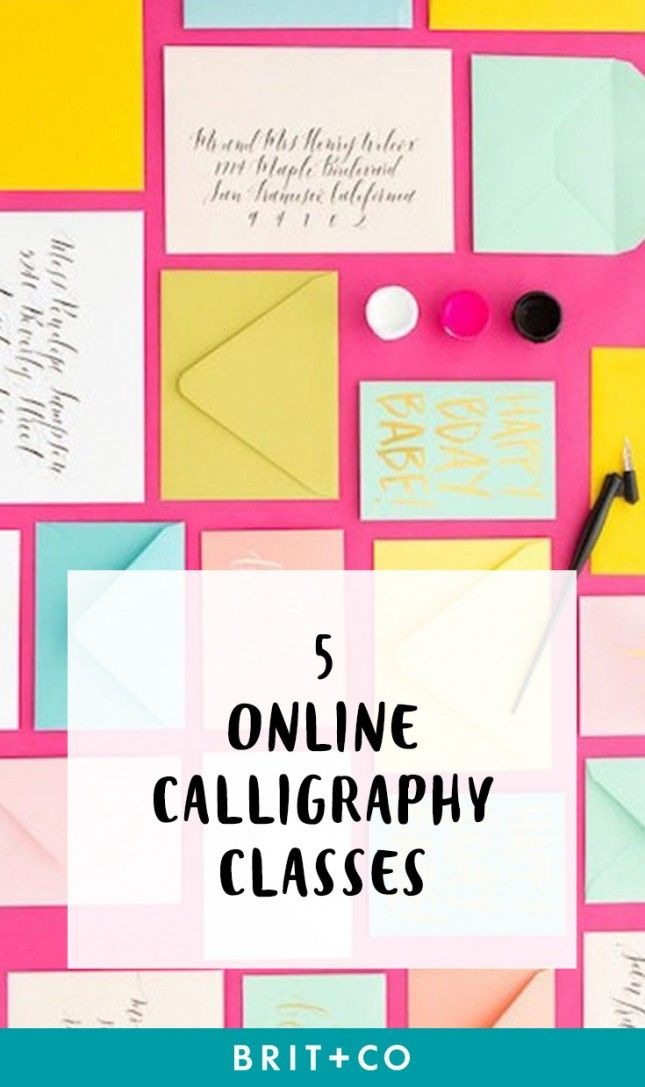 Check out these awesome online calligraphy classes to take on your down time.