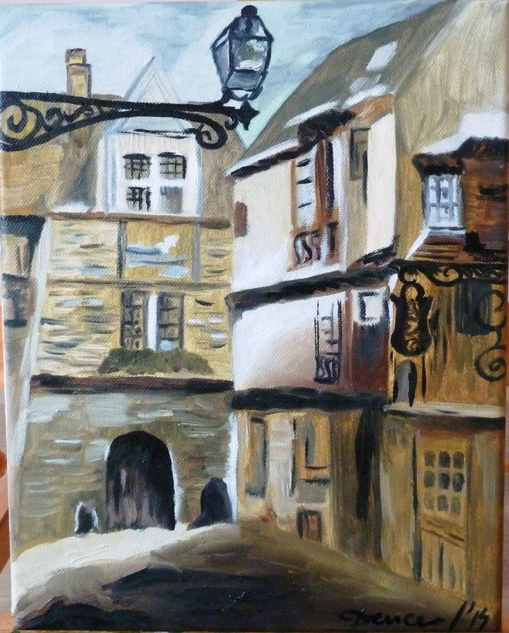 "Oil on canvas ""Old Town"""