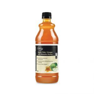 Otet din cidru de mere cu miere de Manuka UMF 5+. Ideal pentru salate. Se amesteca cu ulei de masline presat la rece, suc de lamaie, usturoi si ierburi proaspete. Magazin online cu miere de Manuka.