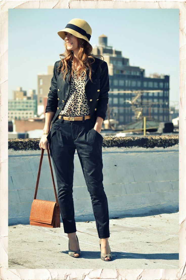 trousers, hat....: Cities Style, Autumn Outfits, Hats Envy, Colleen Closet, Jackets, Accessories, Pretty, Fashion Fixed, Belts