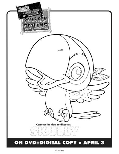 Jake & The Neverland Pirates Printable Skully Coloring ...