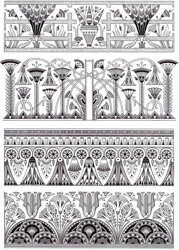 Dover creative haven art deco egyptian designs coloring Dover coloring books for adults