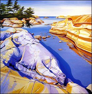Margarethe Vanderpas - Fine Artist - Fox Islands, North Shore of Georgian Bay