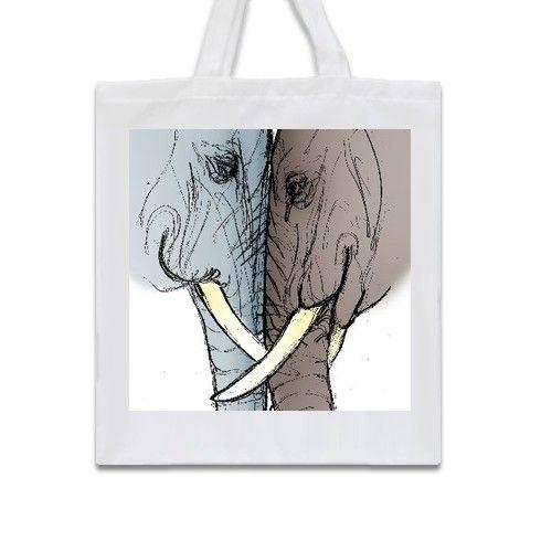 Elephant Love Tote Bag by lyraknox at zippi.co.uk