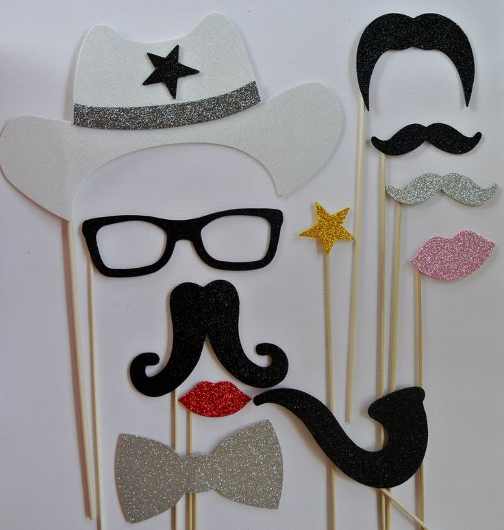 Amazon.com: Western Photo Booth Props Cowboys Texas Mustache on a stick wedding photo booth props: Office Products