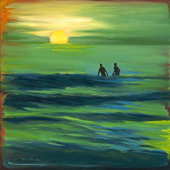 Giclee fine art reproduction on 8 1/2x11 Bamboo by OceanArtStudio, $20.00