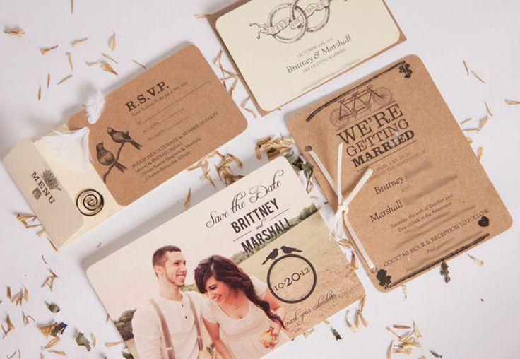 True Vintage Love © DIY Wedding Invitations