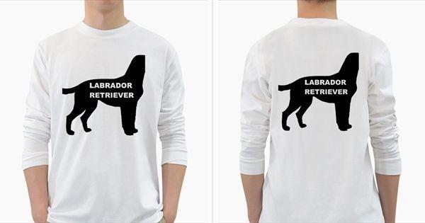 Labrador+Retriever+Black+Name+Color+Silo+Long+Sleeve+T-Shirt