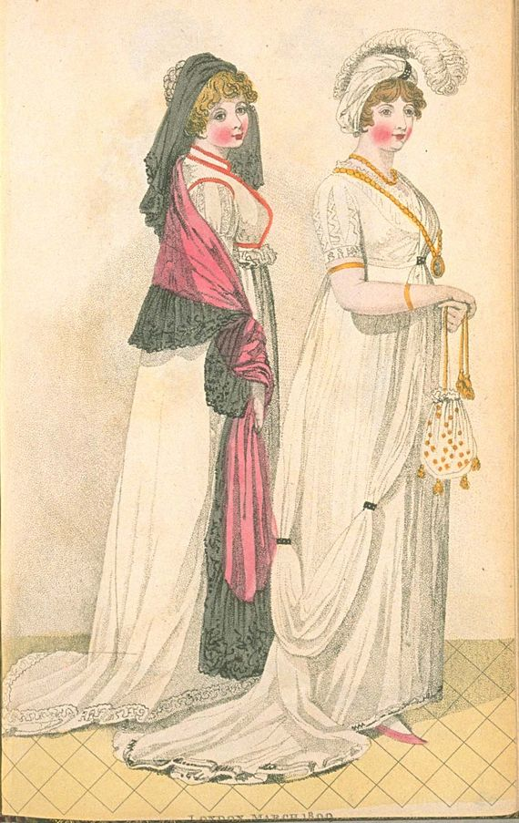 London Full Dresses, March 1800, Fashions of London & Paris