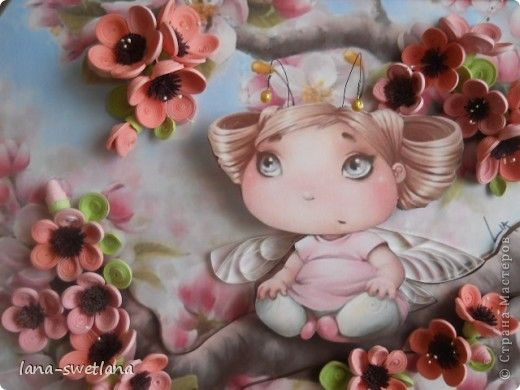 Картина, панно Квиллинг: Подарок Бумажные полосы День рождения. Фото 1