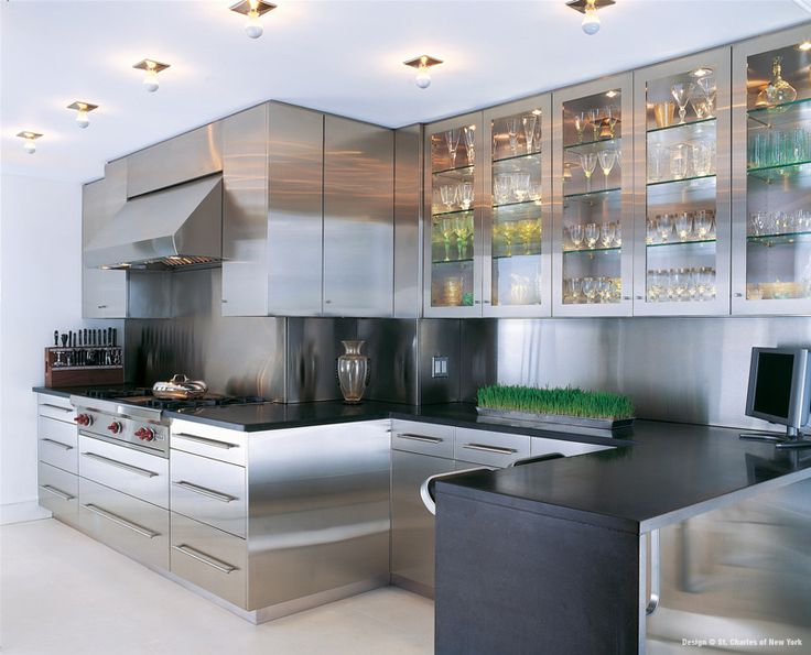 St charles of new york stainless steel kitchens for New york kitchen units