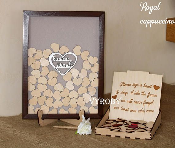 Wedding guest book alternative drop box Rustic decor idea