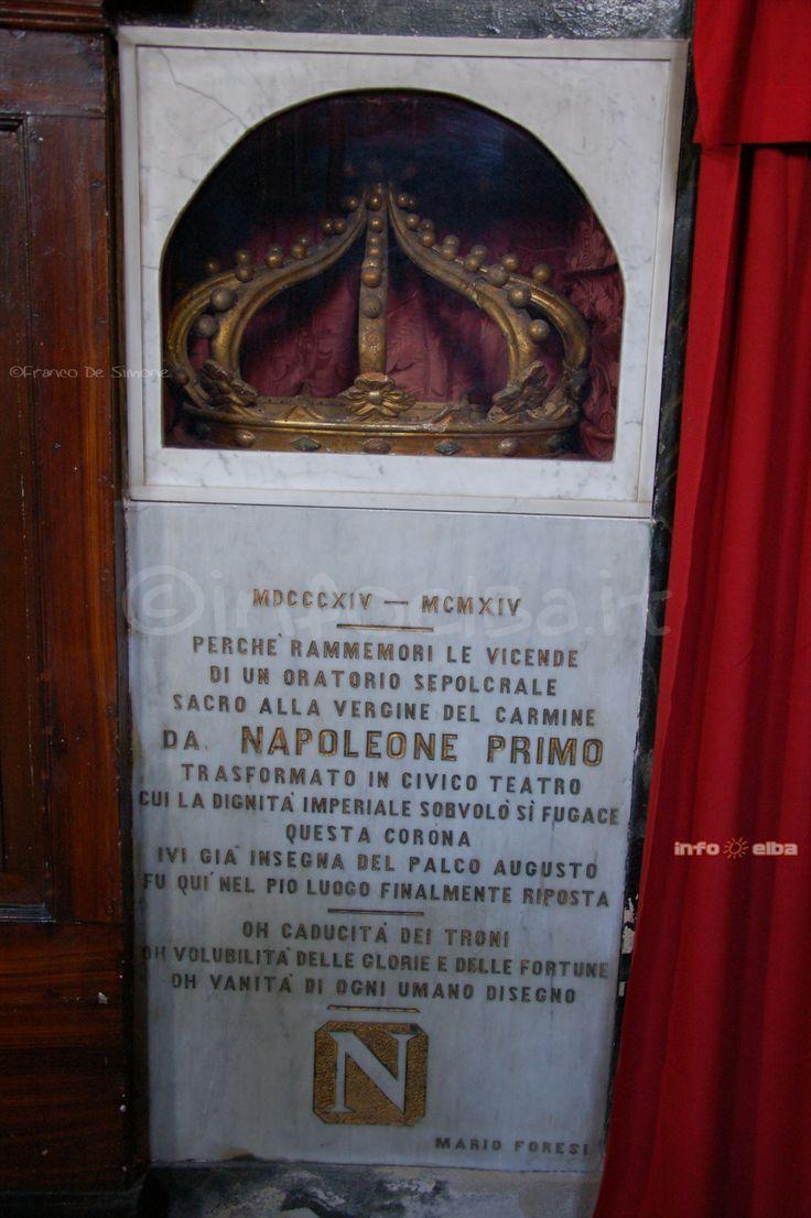 Tracce di #Napoleone presso la Chiesa della Misericordia di Portoferraio, isola d'Elba, #Elba200 by @infoelba
