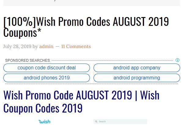 Wish Promo Code August 2019 Promo Codes Coding Wish App