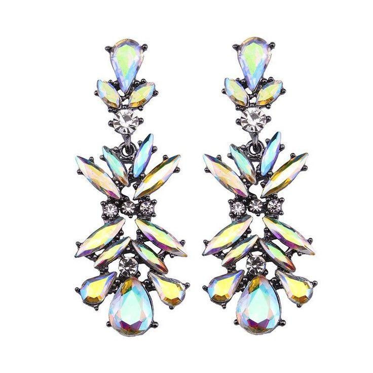Fashion Drop Earrings - Yumi Luxury Crystal Gem & Rhinestone Fashion Earrings