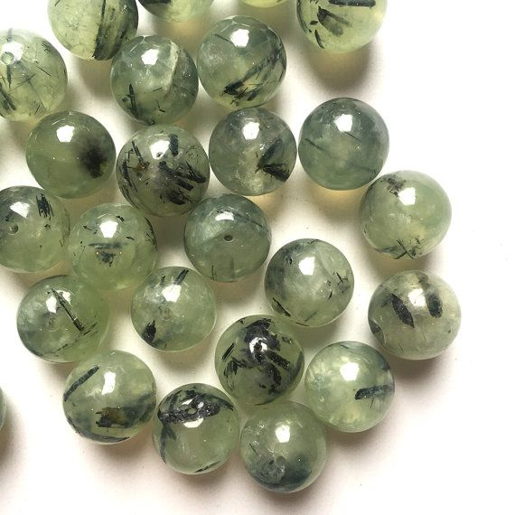 prehnite round beads by on etsy