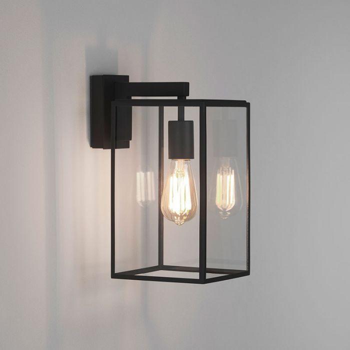 Astro Box 350 Outdoor Hanging Lantern Wall Light Black In 2020 Wall Lights Black Outdoor Wall Lights Outdoor Wall Lighting