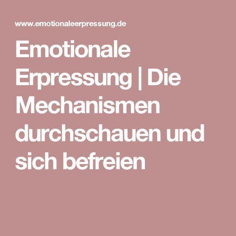 Emotionale Erpressung   Die Mechanismen durchschauen und sich befreien