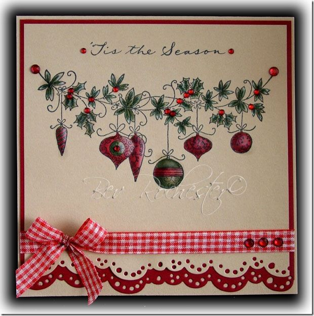 Lili of the Valley Christmas baubles stamp just hit my greed list...