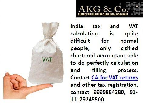 AKG &Co Service CA and VAT returns and tax registration service in Delhi India 9999884280 http://charteredaccountantnewdelhi.com/companylaw.php