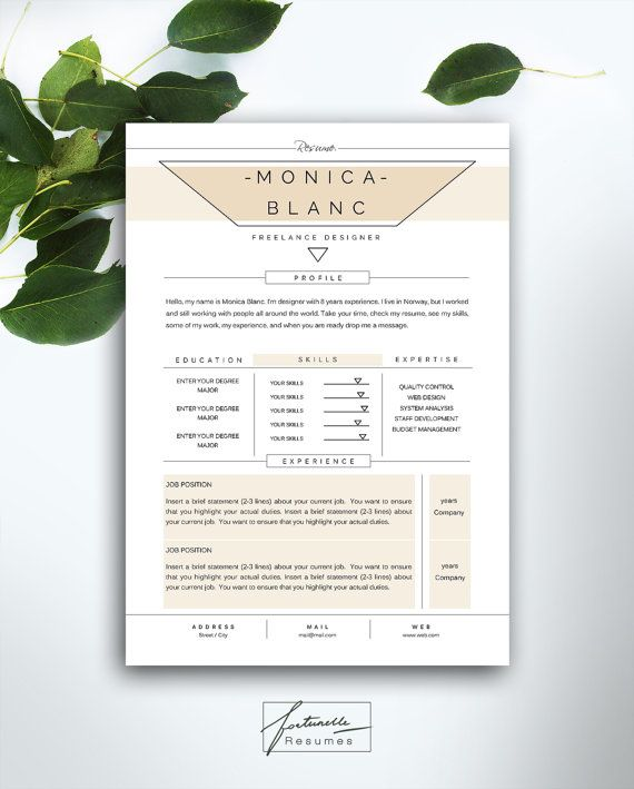Best Fortunelle Resumes Images On   Cv Template