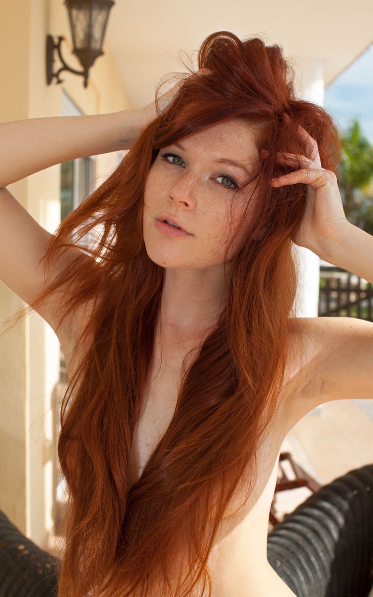 Redhead red hair mature nude