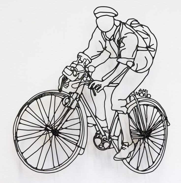 Le tour de vitesse Cuivre peint Format : 43×24 cm Toile de fond : 50×50 cm