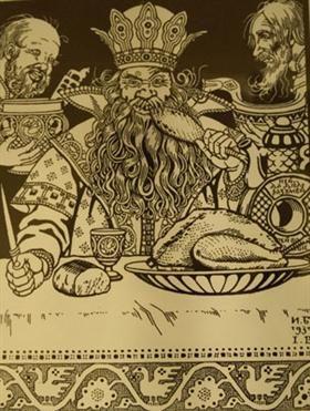"Illustration for the Russian Fairy Story ""Salt"" - Ivan Bilibin"