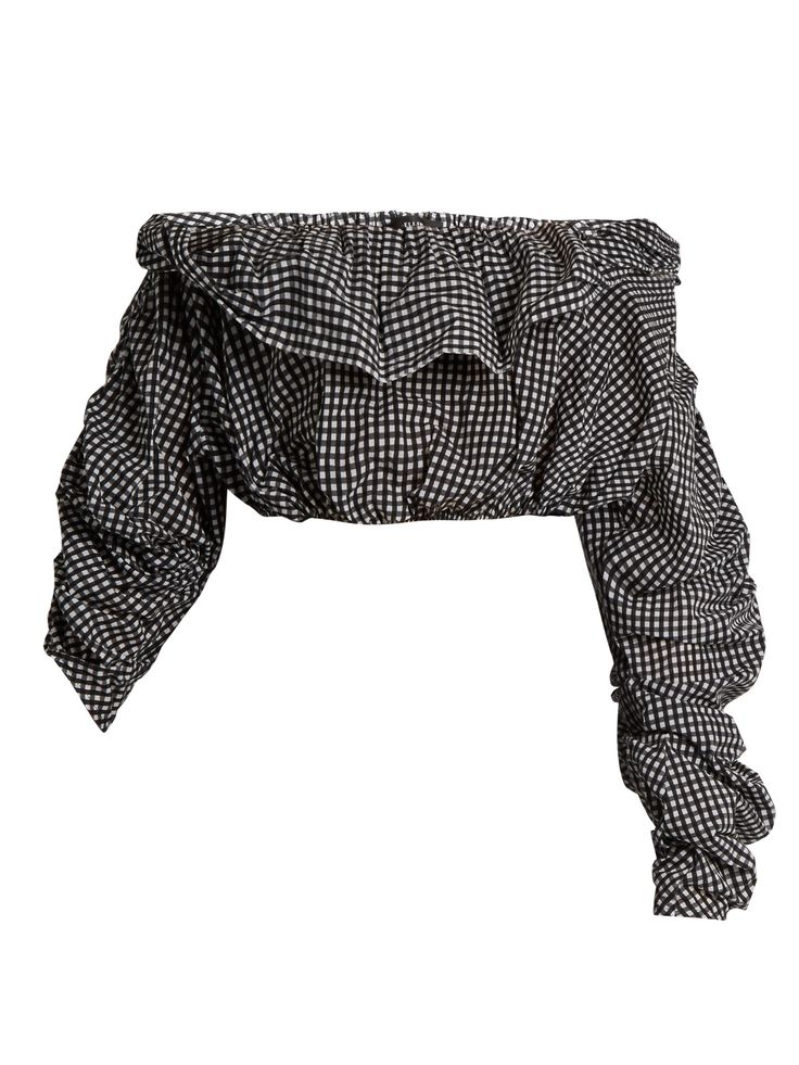 Ellery Third Degree checked stretch-cotton cropped top at MATCHESFASHION.COM