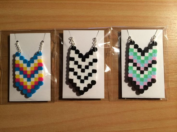 Arrow Perler Necklace. via SuperJade Designs. Click on the image to see more!