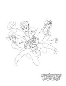 The Imagination Movers printable colouring page.