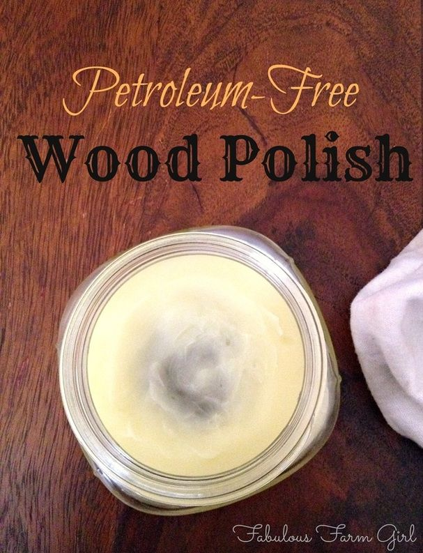 Petroleum-Free Wood Polish