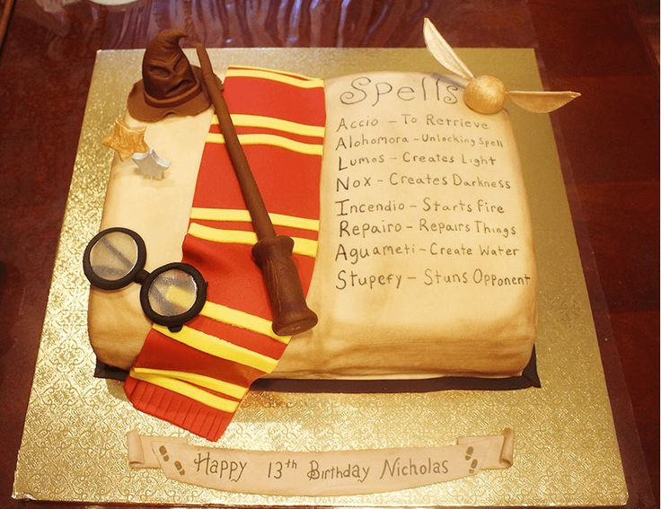 Harry Potter Inspired Book Cake Tutorial - Harry Potter Spell Book cake for her son who is turning 13, and is such a huge Harry Potter fan.