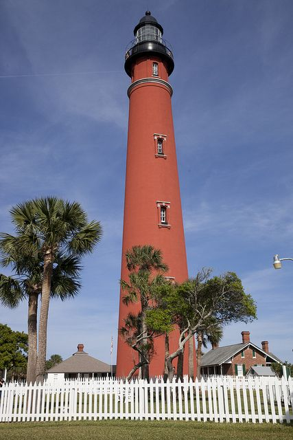 """The tallest lighthouse in Florida - The """"Ponce de Leon Inlet lighthouse. - It stretches 175 feet into the sky."""