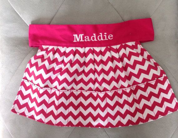 Monogrammed Crayon Apron by LINENSBYLIZ on Etsy