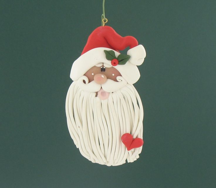 140 best easy holiday crafts images on pinterest polymer clay sculpey iii long beard santa ornament solutioingenieria Gallery