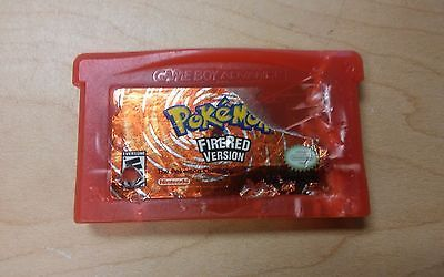 AUTHENTIC NINTENDO GAMEBOY ADVANCE POKEMON FIRERED VERSION GAME CARTRIDGE