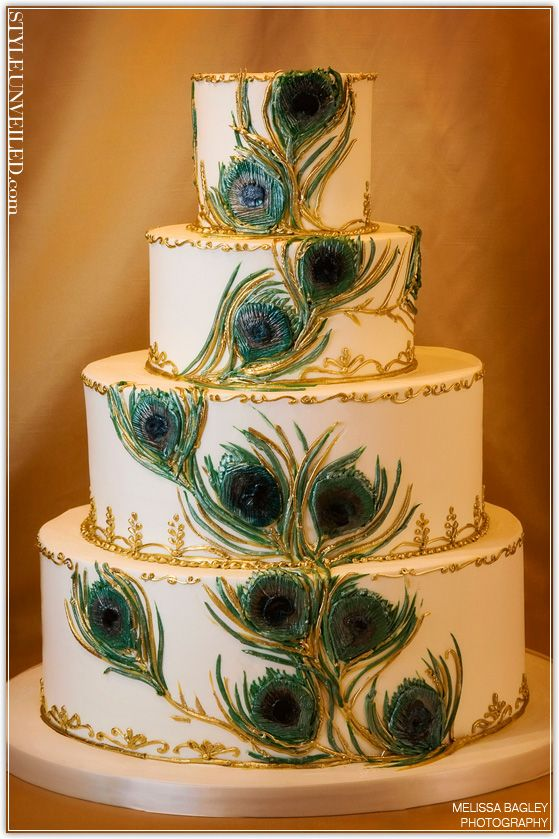 peacock I want this for my wedding cake