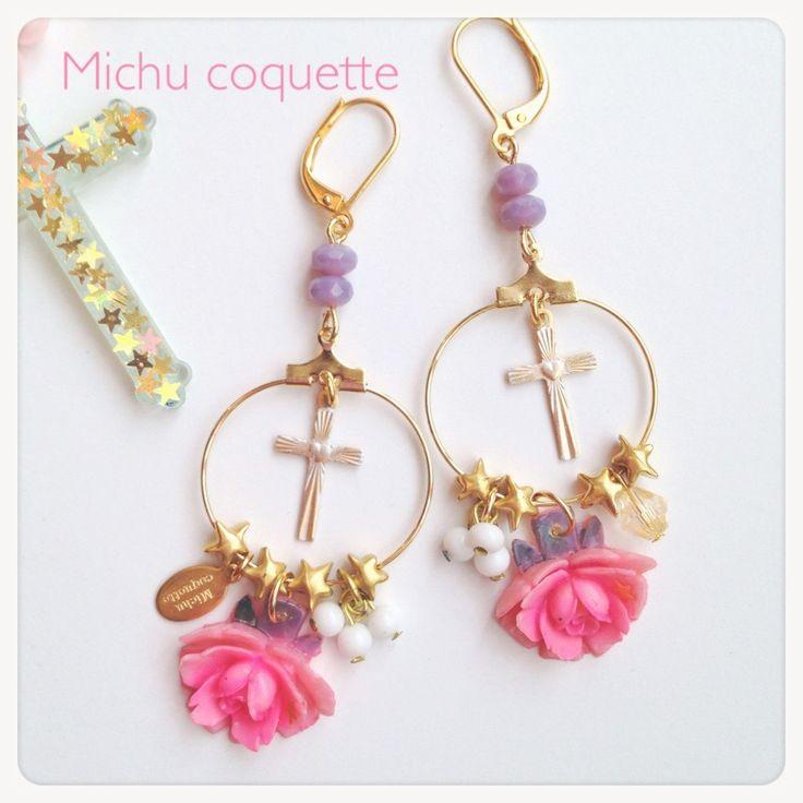 Embellished Cross Earrings