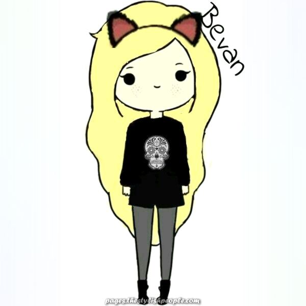 Meee Edited Cute Cartoon Woman Kitty Bevan Cartoon Girl