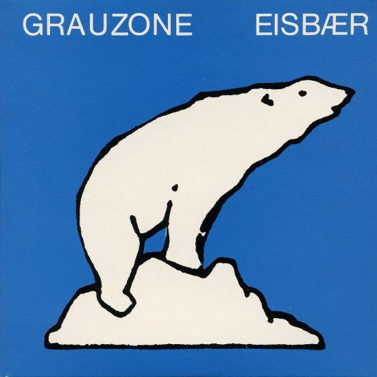 "7"" 45rpm single for Eisbär by Swiss Neue Deutsche Welle band Grauzone, a ""cult hit"" in German-speaking Europe that charted in West Germany at number 12 and in Austria at number 6 on the pop charts, Switzerland, 1981, by Welt-Rekord/EMI Electrola. Grauzone would go on to release four singles, one album, and perform just ten concerts before breaking up in 1982."