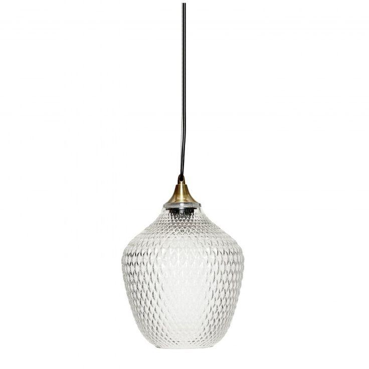 Minimalistická+závěsná+lampa+je+vyrobená+zkovu+a+masivního+skla.+Zajímavá+textura+skla+i+detaily+jí+dodávají+šik+vintage+nádech.