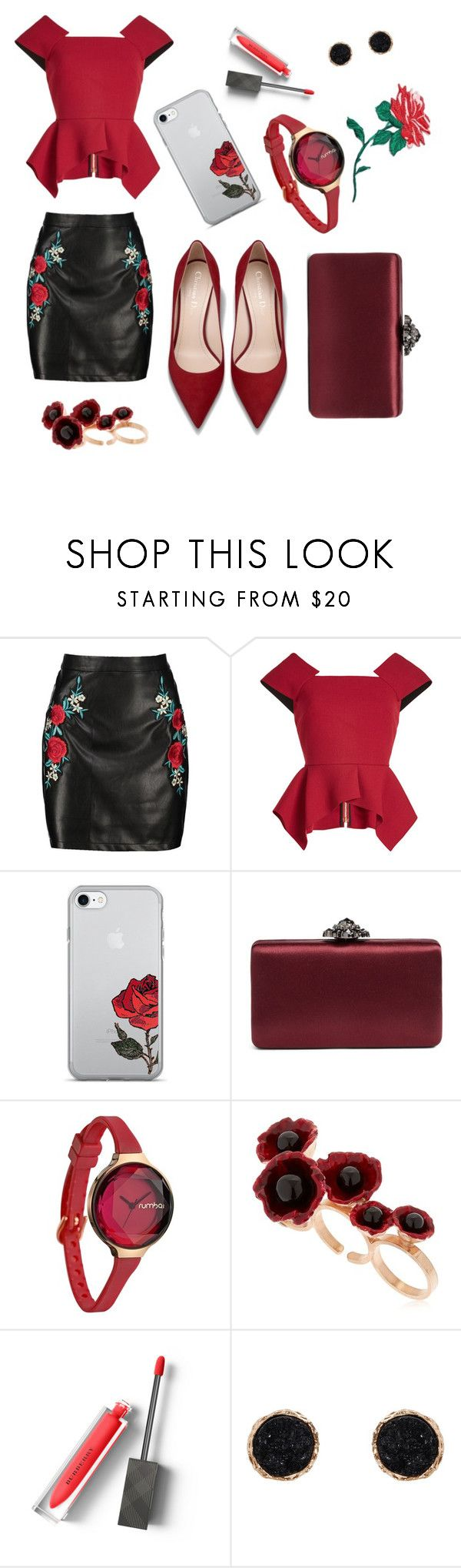 """Untitled #341"" by inesgenebra on Polyvore featuring beauty, Boohoo, Roland Mouret, Nordstrom, RumbaTime, Futuro Remoto, Burberry, Humble Chic and band.do"