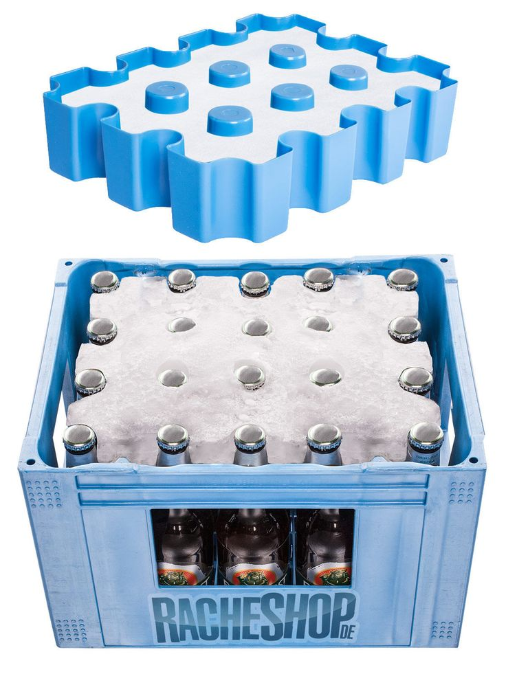 Eisblock Bierkastenkühlerform für 24er-Kästen mit 0,33l-Flaschen blau 33x25x6cm. Damit der Papa zum Vatertag und auch sonst immer kaltes Bier zur Hand hat, braucht er unbedingt diesen genialen Bierkastenkühler. Ein wirklich großartiges Vatertagsgeschenk!