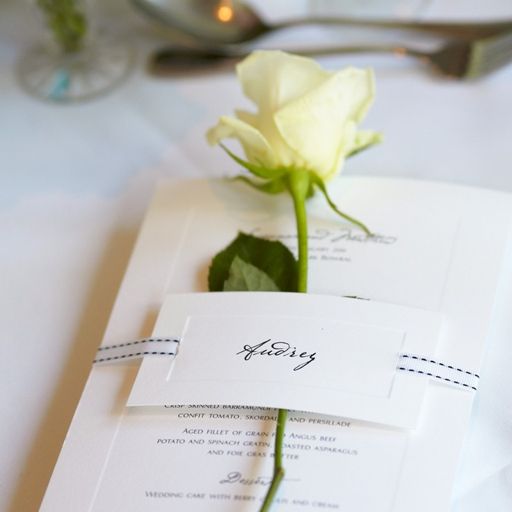Susannah and Matthew Table Numbers and Menu Stationery by Papier d'Amour