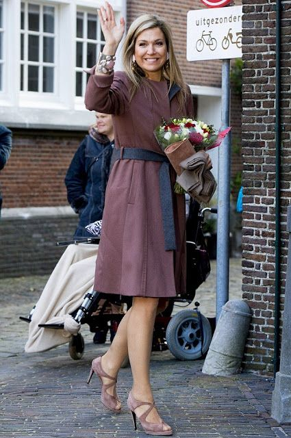 Queen Maxima of The Netherlands visit debt relief Buddy Netherlands (SchuldHulpMaatje Nederland), a national organization that helps people who have got into financial trouble or at risk of exclusion in Leiden, The Netherlands on February 17, 2016.