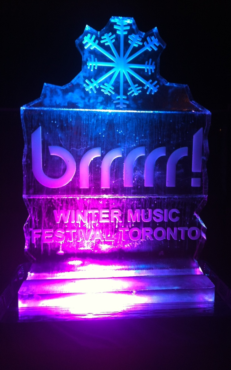 Brrrrr! Winter Music Festival ice sculpture!